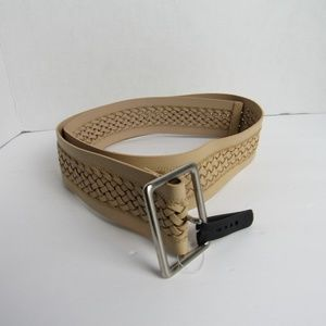 Accessories - Leather Lining Tan Weaved Belt Various Sizes